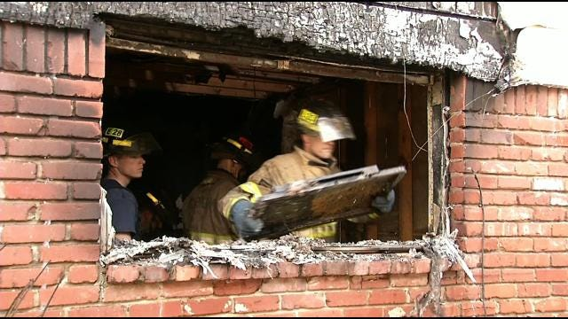 Fire Destroys South Tulsa Duplex