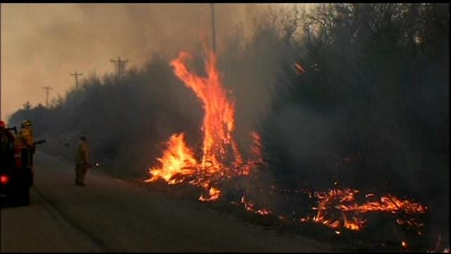Grass Fires Worry Residents In Pawnee County
