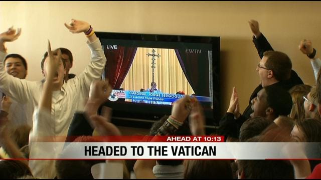Bishop Kelley Students Take Time To Experience Historic Day For Catholic Church