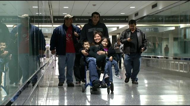 Oklahoma Soldier And Family Return Home For Good
