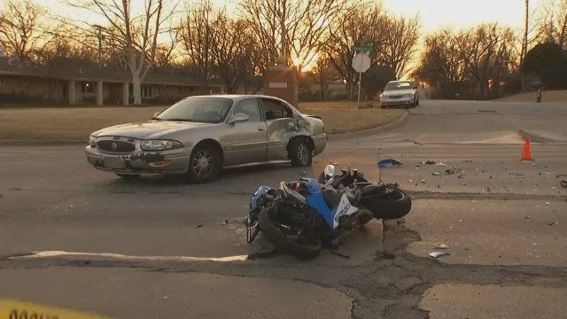 WEB EXTRA: Scene Of Motorcycle Crash At Memorial And 25th
