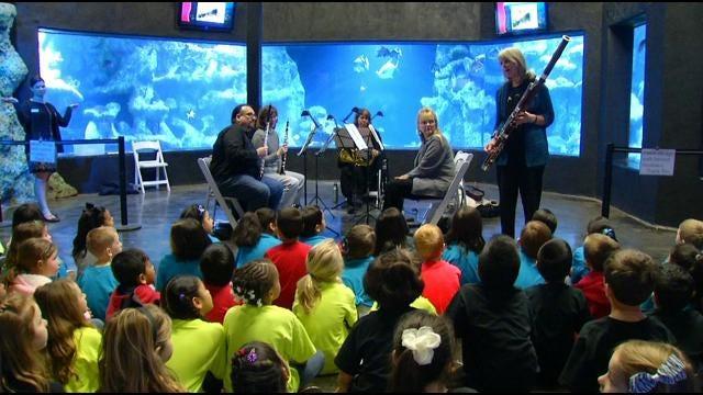Students Treated To Symphony By The Sea At Oklahoma Aquarium