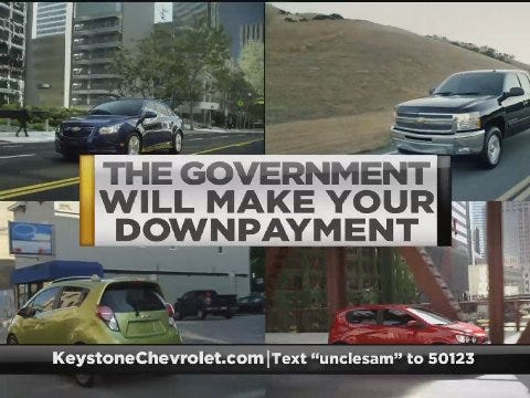 Keystone Chevrolet: Government Down Payment