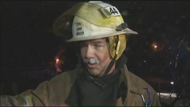 WEB EXTRA: Tulsa Fire District Chief Bennie Herring Talks About House Fire