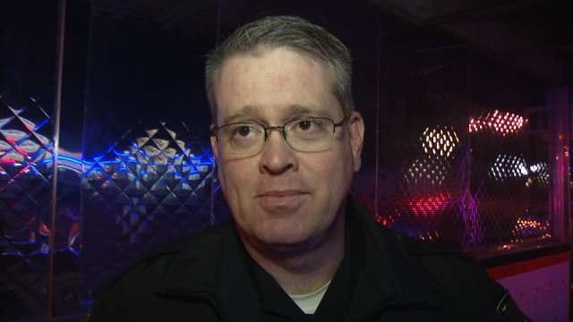 WEB EXTRA: Tulsa Police On Hit-And-Run Wreck