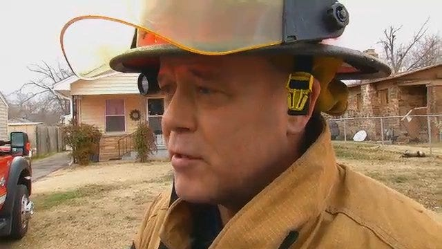 WEB EXTRA: Tulsa Fire Captain Tim Holt Talks About House Fire