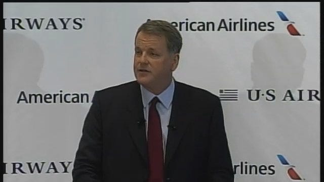WEB EXTRA: US Airways CEO Doug Parker's Statement At Thursday's News Conference