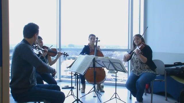 WEB EXTRA: Tesla Quartet Performs At Saint Francis Children's Hospital