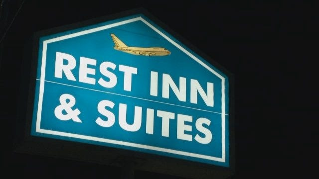 WEB EXTRA: Video From Scene Of Tulsa Rest Inn Motel Robbery