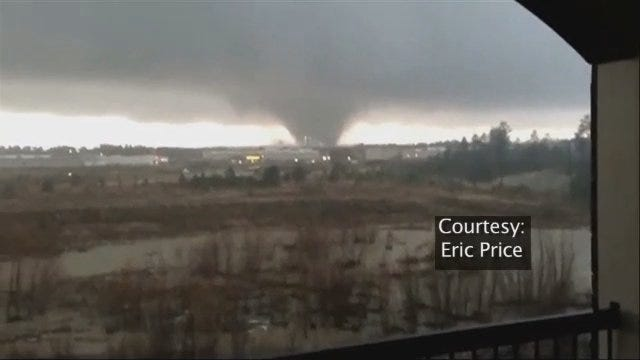 WEB EXTRA: Cell Phone Video Of Mississippi Tornado