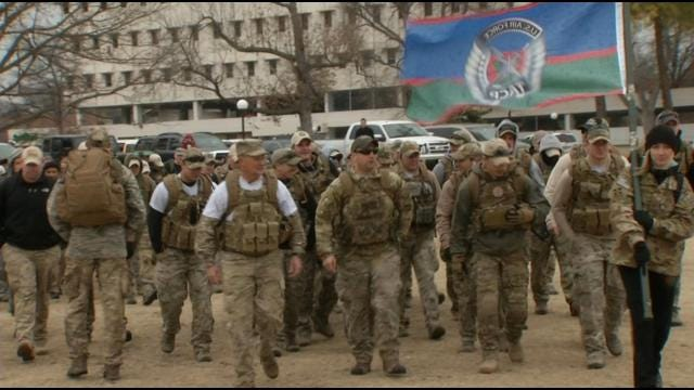 Oklahoma Airmen Honor Fallen Friend With Memorial March