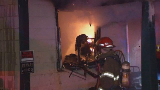 WEB EXTRA: Video From East Oklahoma Place House Fire