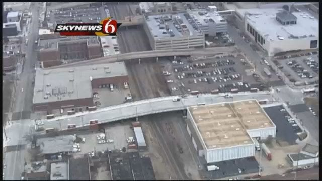 WEB EXTRA: View Of Tulsa's Boulder Avenue Bridge From SkyNews6