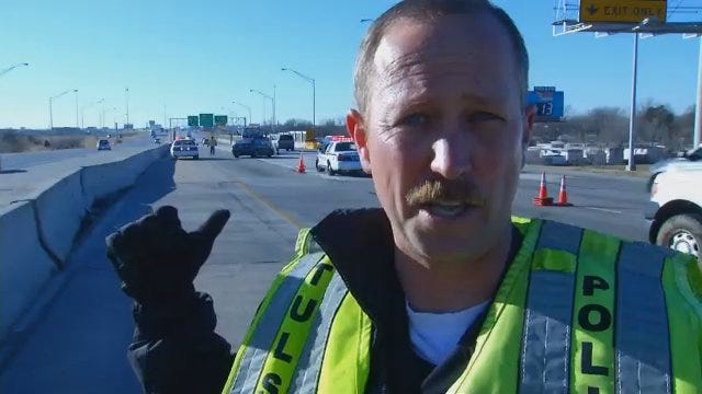 WEB EXTRA: Tulsa Police Officer Stephen Florea Talks About Crash