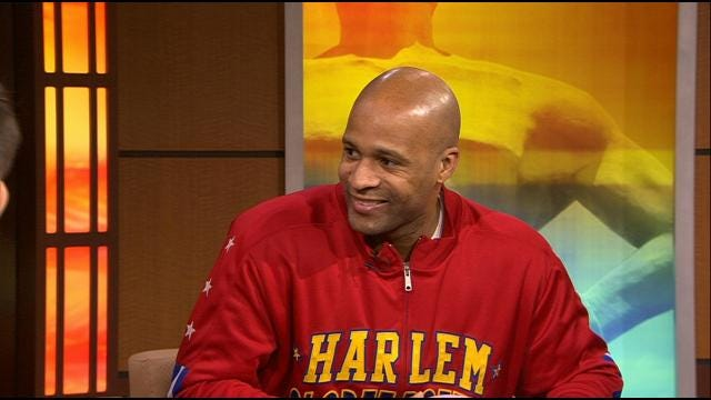 Harlem Globetrotter Stops By Six In The Morning