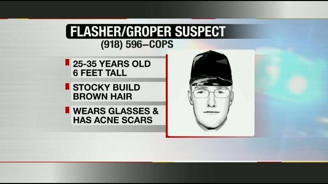 Tulsa Police Look For Woodland Hills Flasher