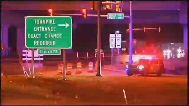 WEB EXTRA: Video From Scene Of Creek Turnpike Closed At Jenks Toll Booth