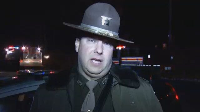 WEB EXTRA: Oklahoma Highway Patrol Trooper Leonard McMillan Talks About Fatal Crash
