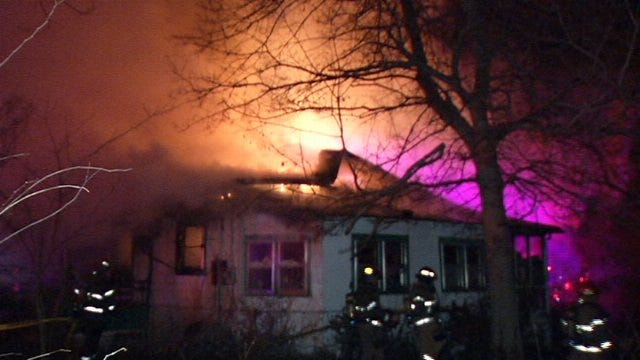 WEB EXTRA: Video From Scene Of Fatal House Fire At West Newton Street and North Tacoma Avenue