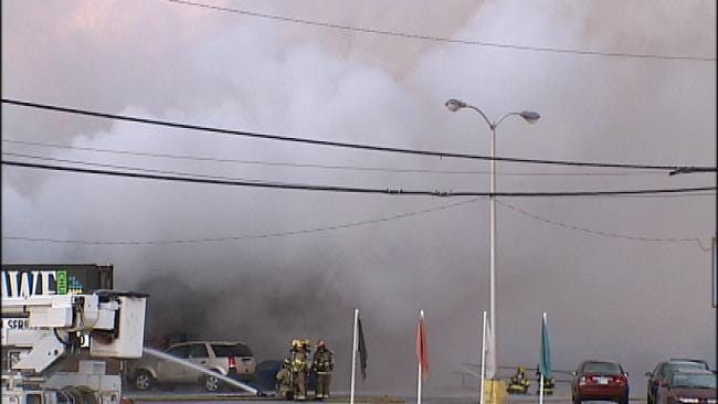 WEB EXTRA: Scenes From Owasso Commercial Fire