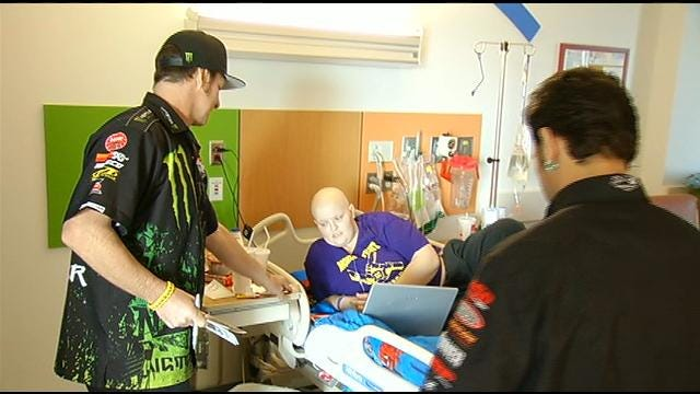 Monster Truck Drivers Visit Children At Tulsa St. Francis Hospital