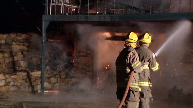 WEB EXTRA: Crews Battle Kellyville-Area House Fire