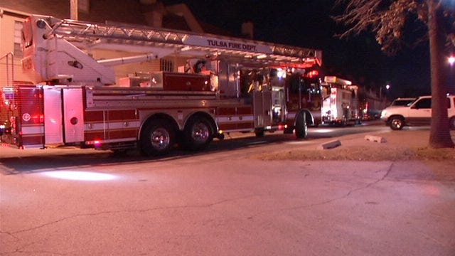 WEB EXTRA: Video From Scene Of Fire In Breezeway At Tulsa Apartment Complex