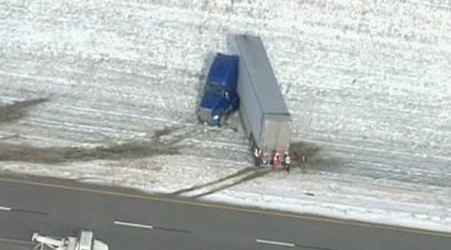 WEB EXTRA: SkyNews6 Finds Snow South Of I-40 In Oklahoma