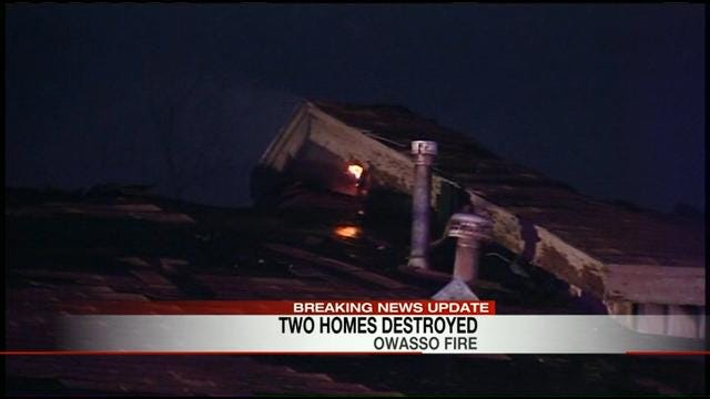 Fire That Started In Chimney Of Owasso Home Spreads To Second House