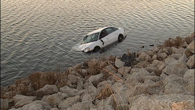 WEB EXTRA: Video From Scene Of Riverside Drive Crash With Car Into River