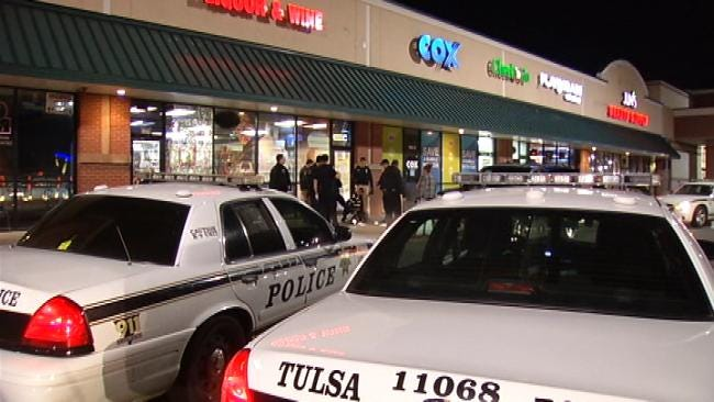 WEB EXTRA: Video From The Scene Of Attempted Tulsa Liquor Store Robbery