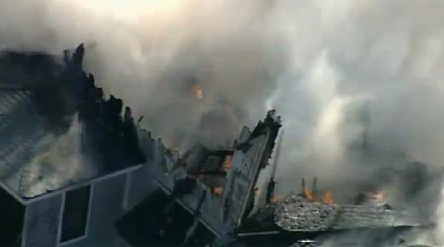 WEB EXTRA: SkyNews6 Flies Over Sapulpa House Fire