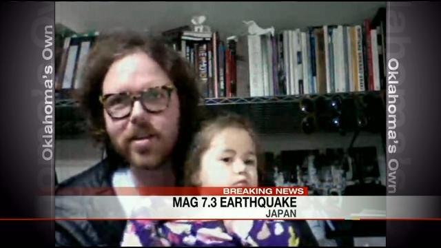 Former Tulsan Talks About Japan Earthquake Via Skype