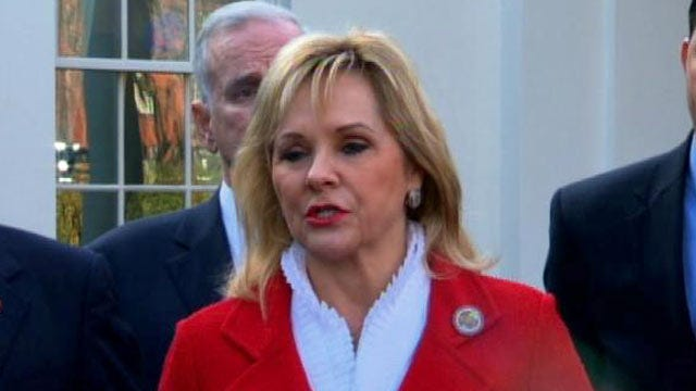 WEB EXTRA: Oklahoma Governor Mary Fallin Speaking Outside The White House
