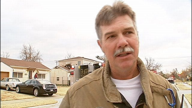 WEB EXTRA: Tulsa Fire District Chief Bennie Harring Talks About House Fire