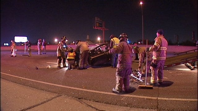 WEB EXTRA: Video From The Scene Of Crash On I-244 At Memorial