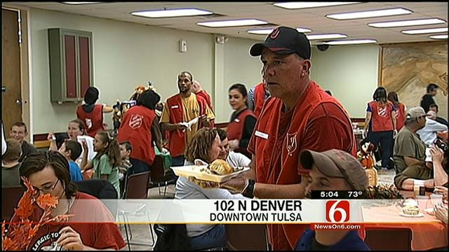 Tulsa Salvation Army Serves Up Turkey Dinners To The Needy