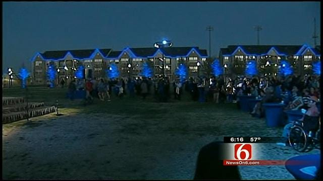 TU Campus Is True Blue For Christmas