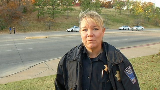 WEB EXTRA: Tulsa Police Officer Jonella Griffith Talks About Finding Elderly Woman