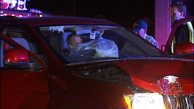 WEB EXTRA: Video From Scene Of Crash Near 15th And Gary In Tulsa