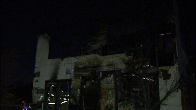 WEB EXTRA: Video From Scene Of Tulsa House Fire Tuesday Evening