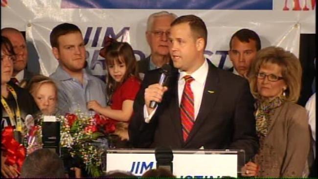 WEB EXTRA: Jim Bridenstine Victory Speech At Watch Party