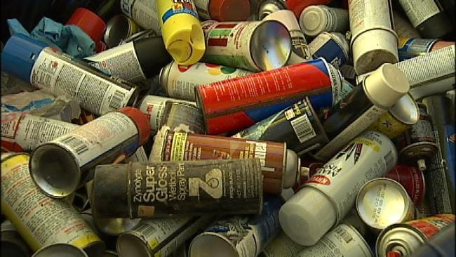 WEB EXTRA: Video Of Community Pollution Collection Event At Tulsa County Fairgrounds
