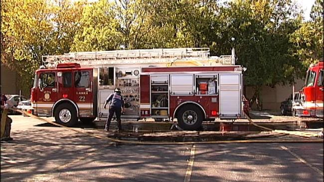 WEB EXTRA: Video From Scene Of Apartment Fire At 16th And Memorial