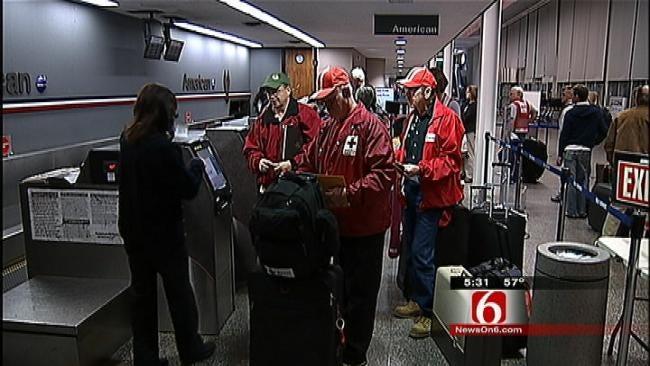 Local Red Cross Disaster Relief Team Flies East To Meet Hurricane