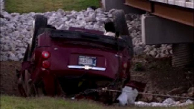 WEB EXTRA: Woman Wrecks At Duck Creek Bridge Near Glenpool