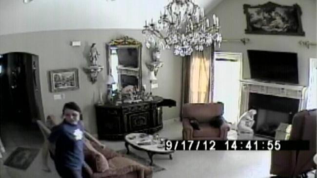 Tulsa Police Search For Burglar Caught On Tape