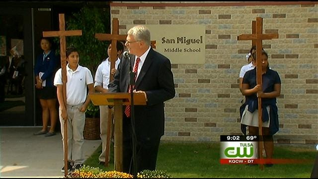 San Miguel Middle School Students Hold Grand Opening Of New Facility