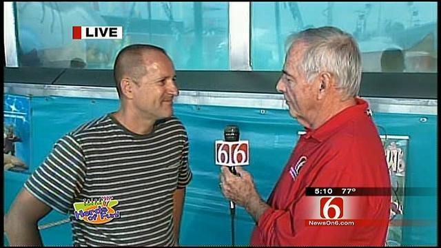 Rick Wells Checks Out Tulsa State Fair's Shark Tank