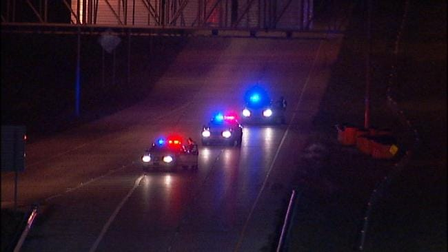 WEB EXTRA: Video From Scene Of Motorcycle Crash Off I-44 Onto U.S. Highway 75